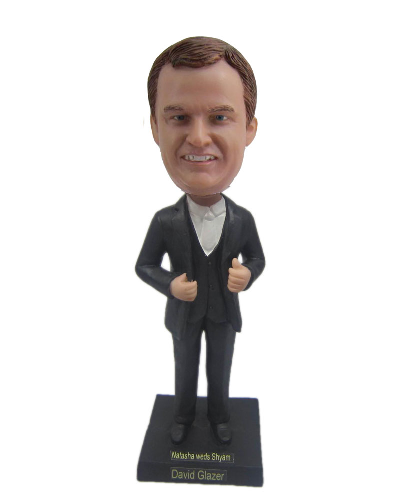 Male occupation in business suit bobblehead B307