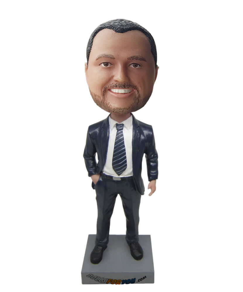 male marvel bobble heads with black suit G201