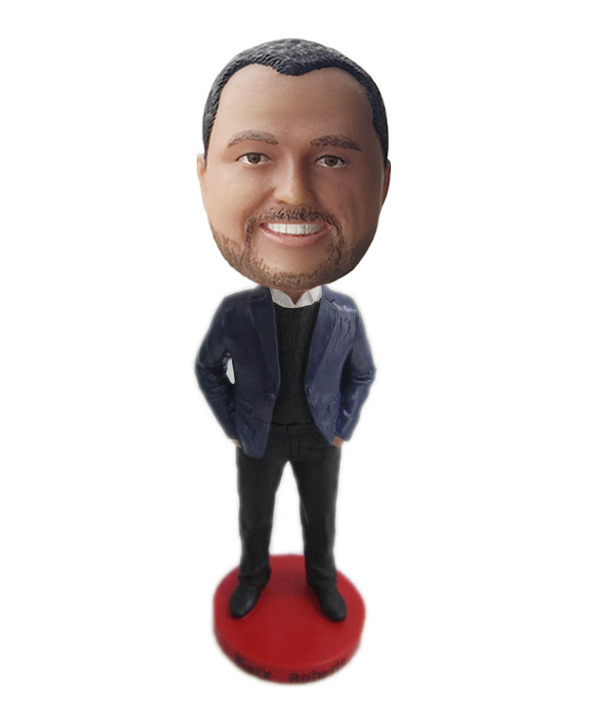 pop bobbleheads of gentleman with black suit G151