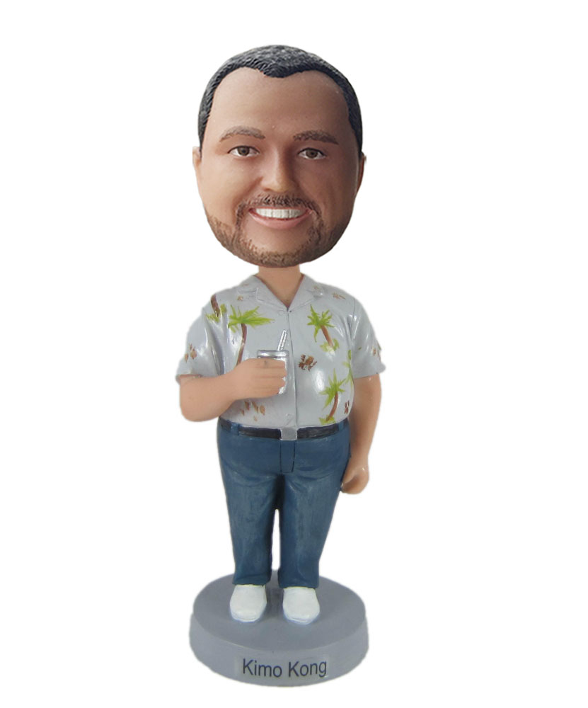 Color shirt bobblehead doll