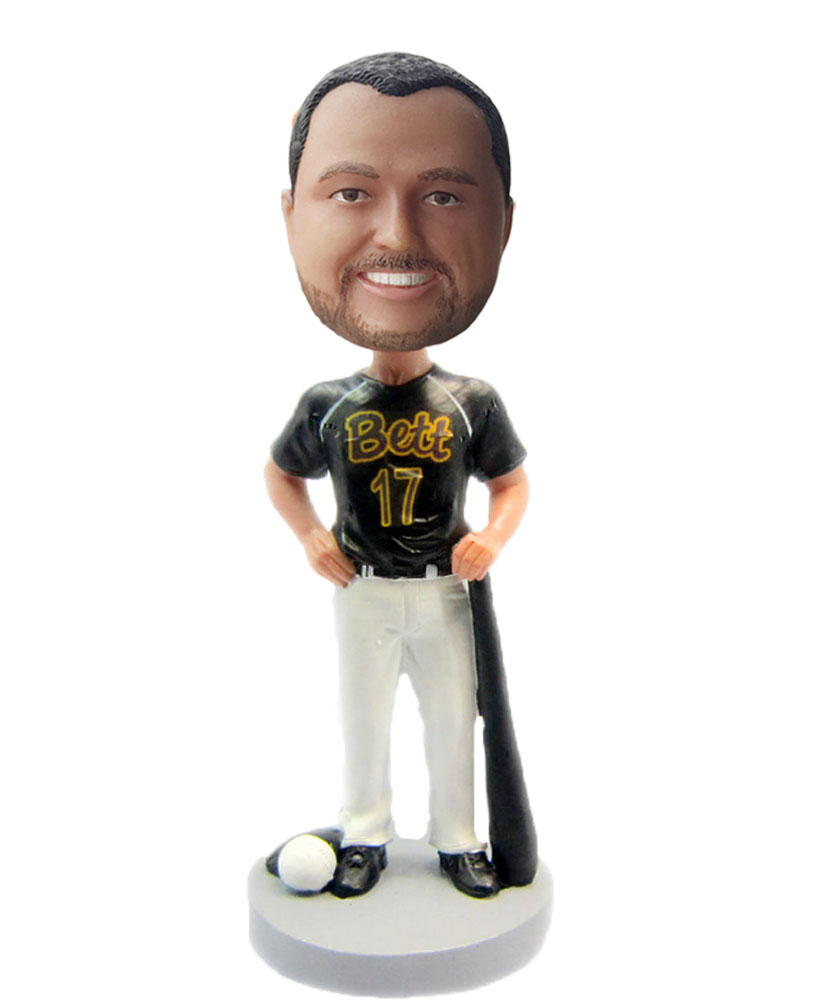 Baseball Player With Bat bobblehead Doll S90