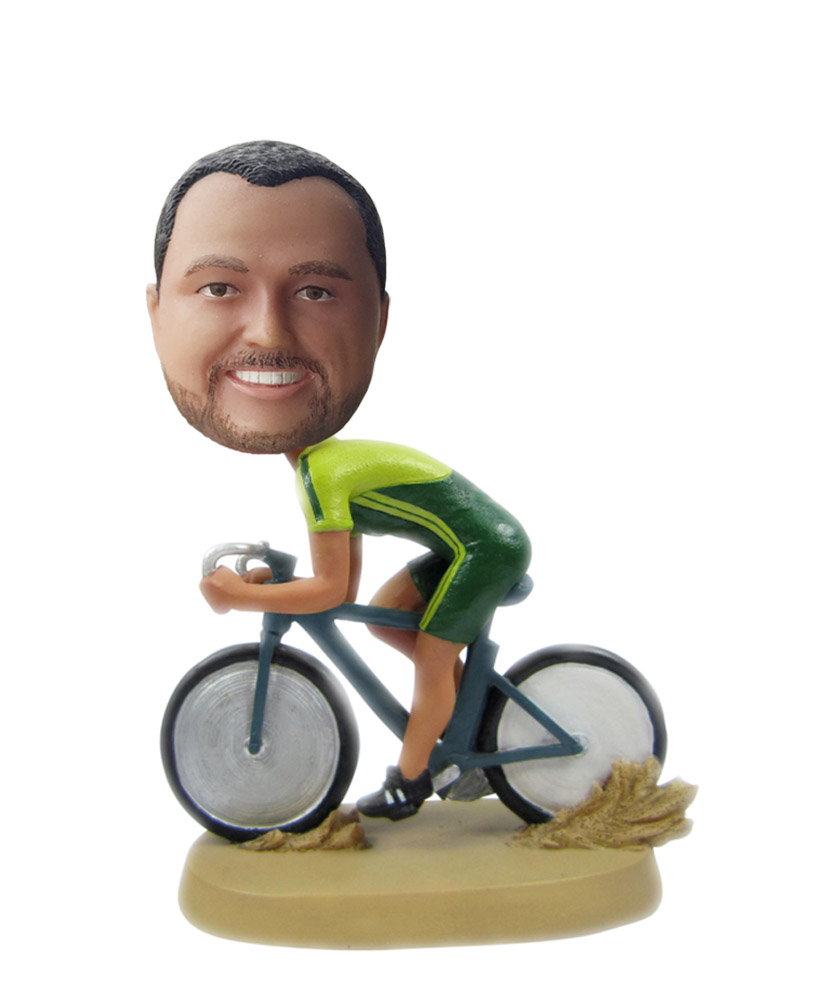 Personalized Custom Crazy Racer Bobblehead S112