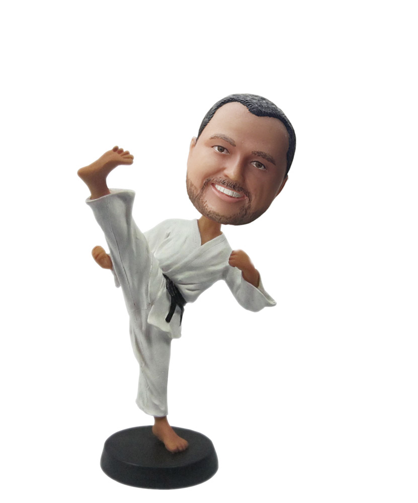 Custom Personal Bobble Heads Karate Doll S 145