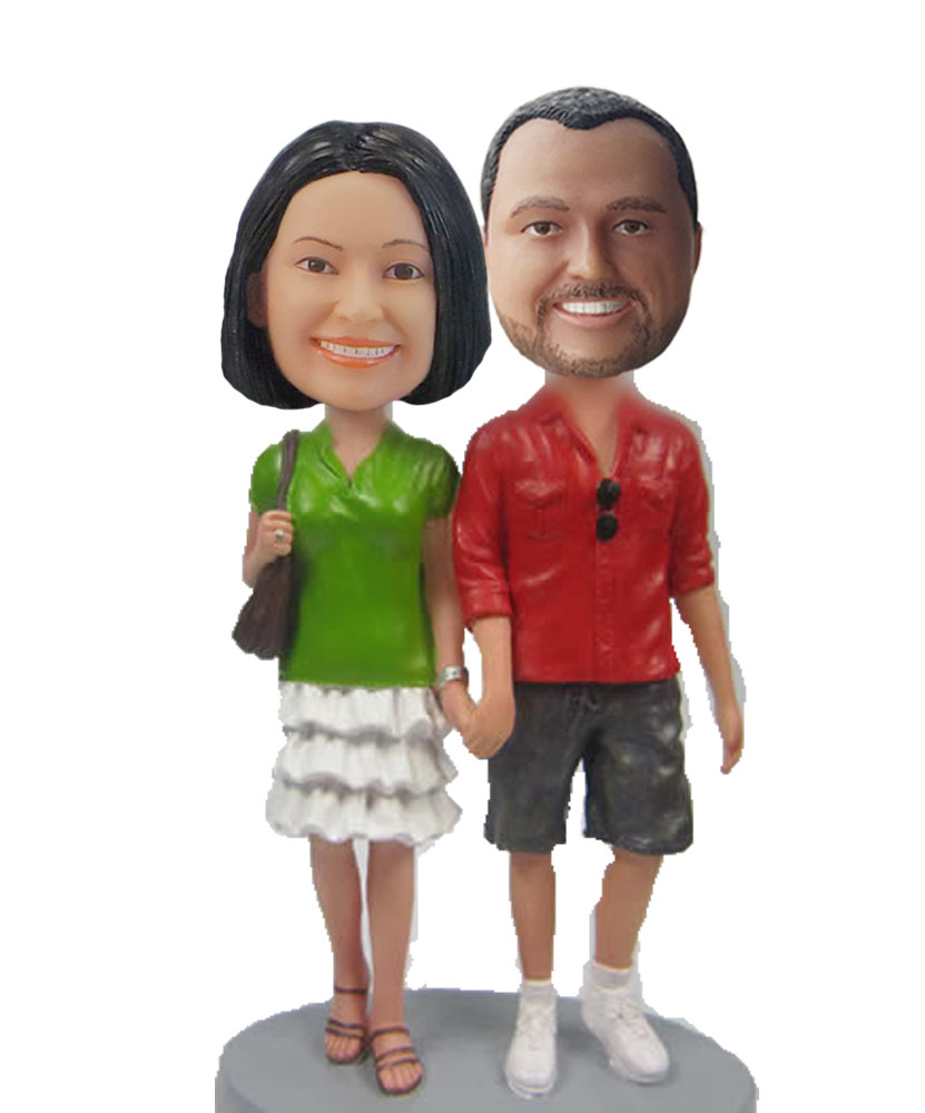 Couple walking down the aisle bobblehead W632