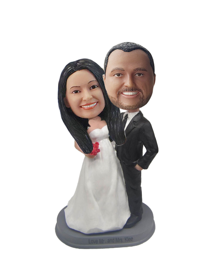 ride And Groom bobblehead Doll W733