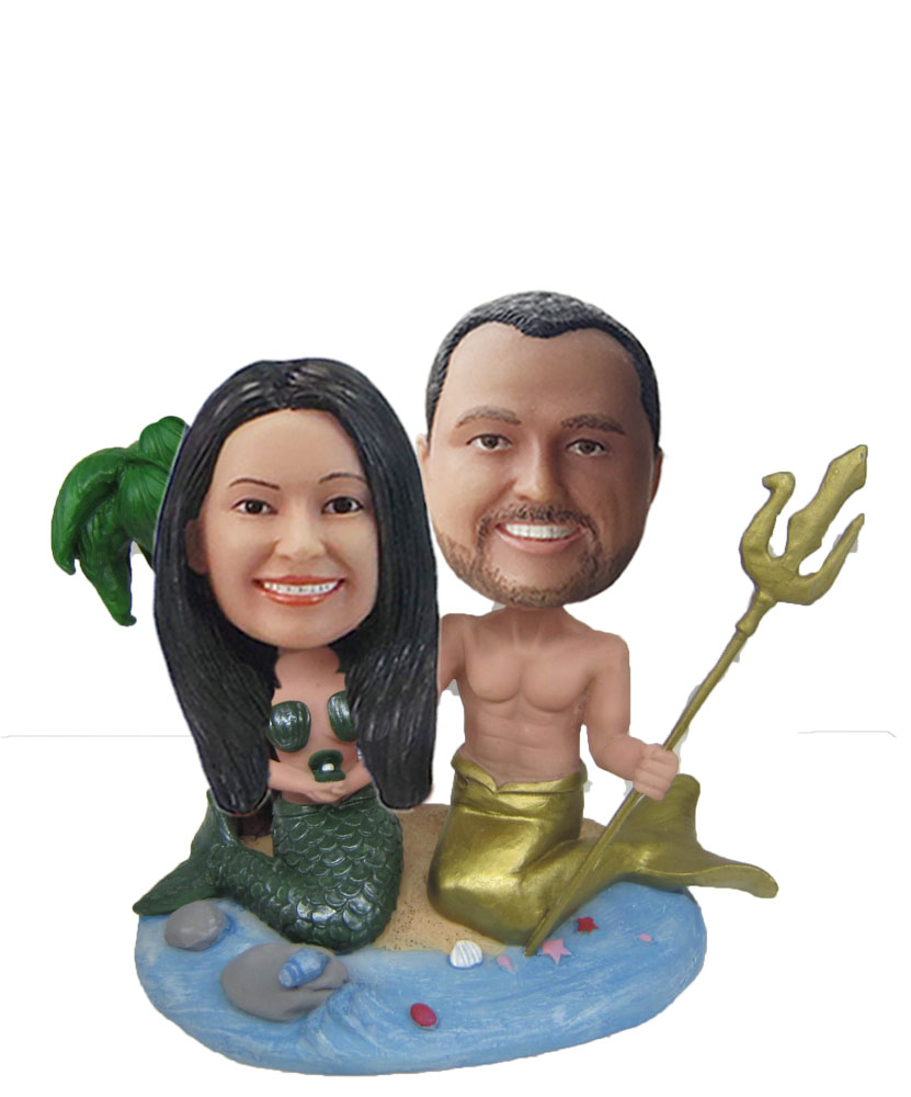 Custom Couple bobblehead Man And Woman Bathing In A Tub W773