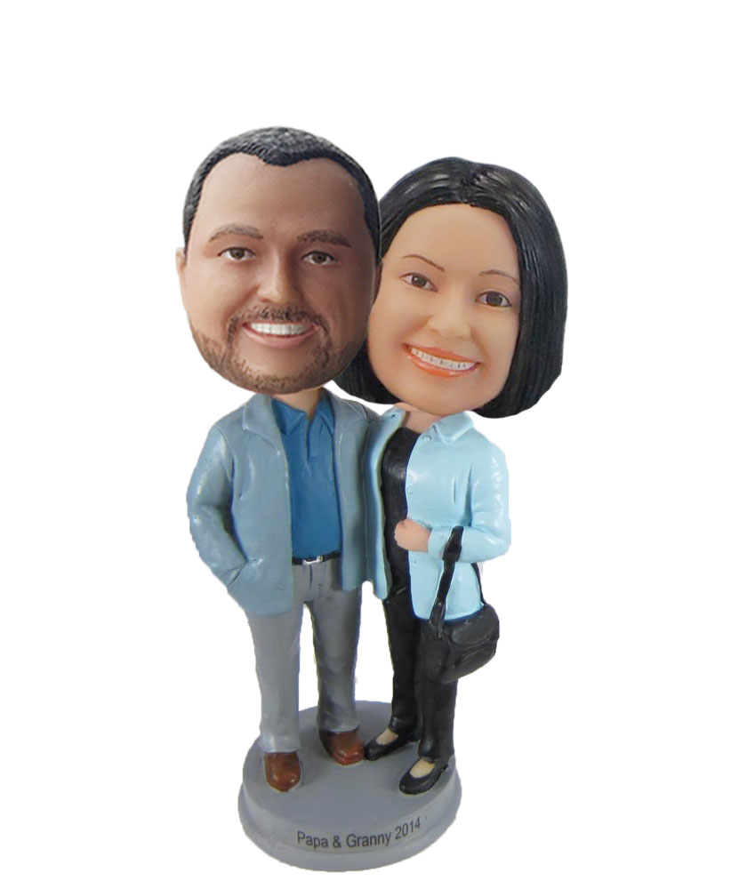 Casual couple bobblehead W1039