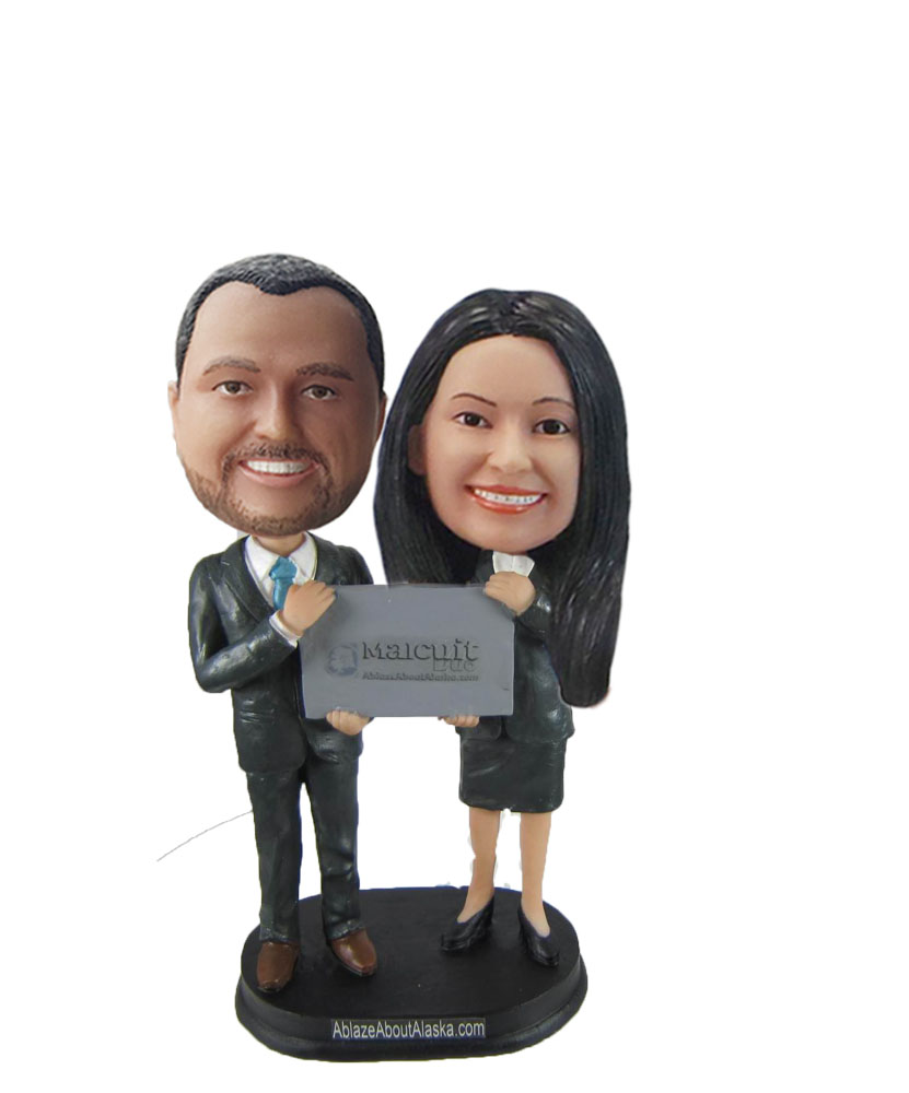 Custom Businness Bobble Head Cake Topper W1040