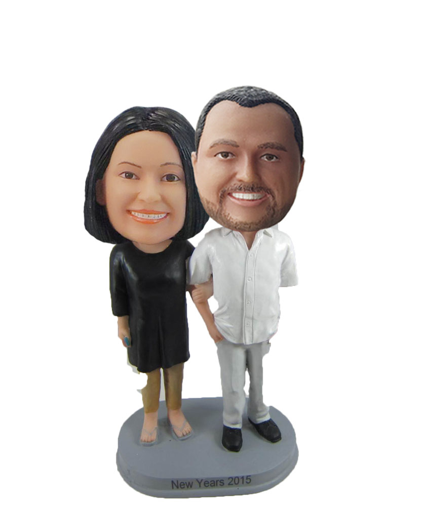 Holding Hands Man And Woman bobblehead Doll 2 W1075