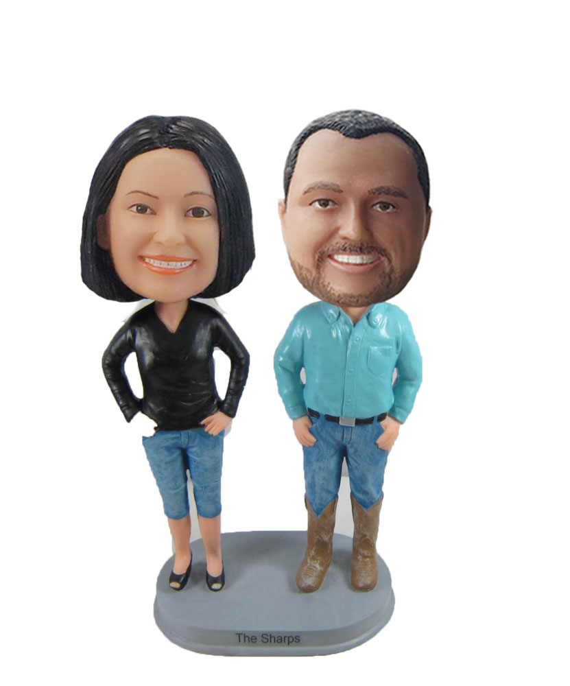 Personalized Custom Couple Bobbleheads W1089