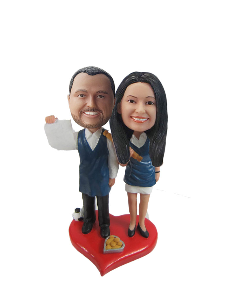 Couple Chef bobblehead doll W1090
