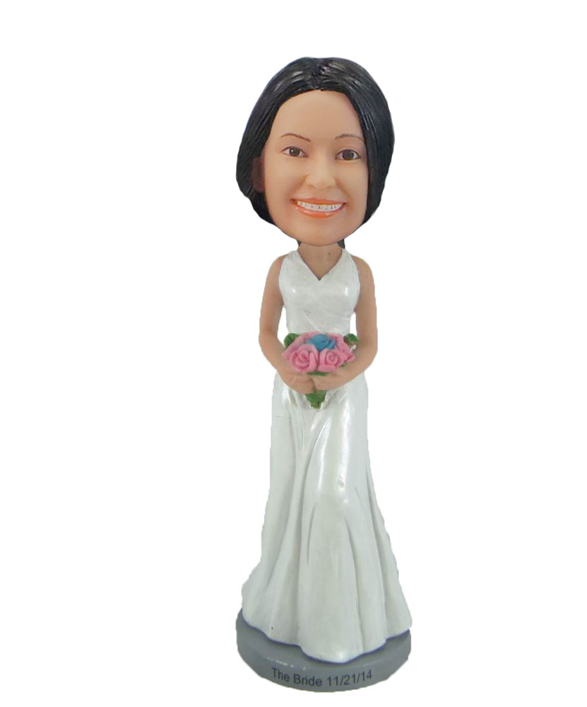 Female Fancy dress Beautiful bride bobblehead doll F873