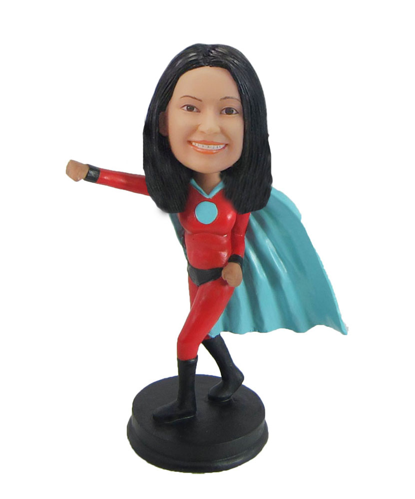 Female Superwoman in blue cloak Bobbleheads F991
