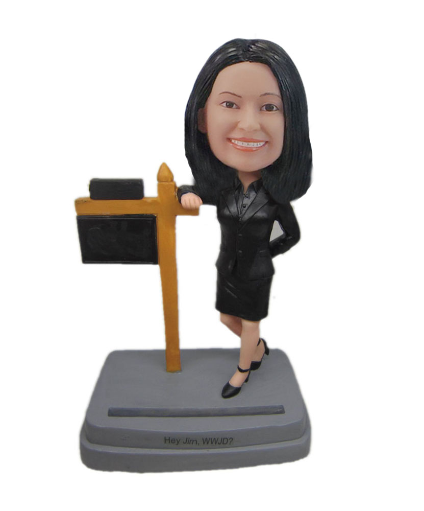 Bobbleheads Of Real Estate Agent Business card holder F7055